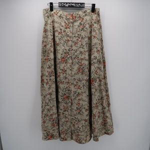 Lauren Ralph Lauren Floral Button Up Maxi Skirt